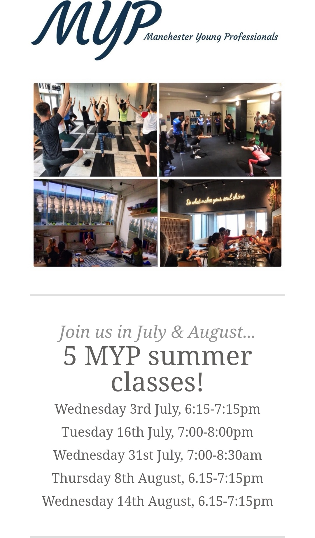 MYP - Pilates events